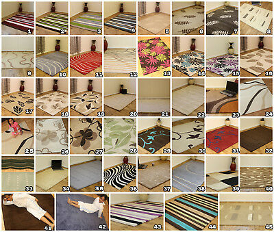 Huge Clearance Sale Small Large 100% Pure Indian Wool Hand Woven Thick Rugs