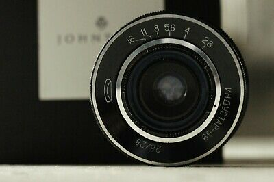 Wide Angle INDUSTAR 69 LENS 2.8/28mm M39 MADE IN USSR for mirrorless cameras