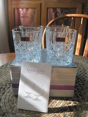 Marquis by Waterford Markham Double Old Fashioned Glasses Set of 4 Glassware