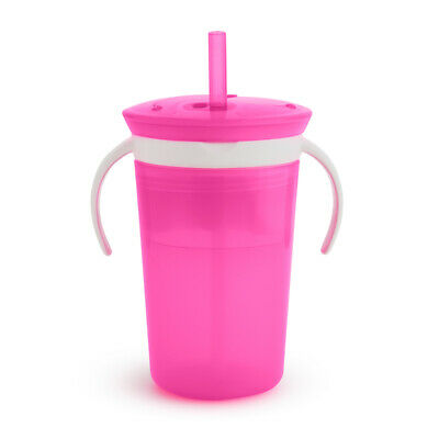 Steady Munchkin Click Lock Chew Proof Sippy Cup 284ml Pink Feeding Baby