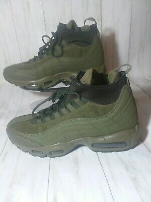outlet store f66ac 9a369 Nike Air Max 95 Sneakerboot Mens Green Olive Size 9 806809-202