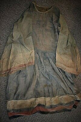 orig $499-NEPAL/TIBET SHAMAN DRESS EARLY 1900S 54IN prov
