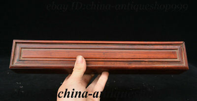 """14"""" Chinese Dynasty Huang Huali Wood Carved Storage Jewelry Box Chest Bin Statue"""