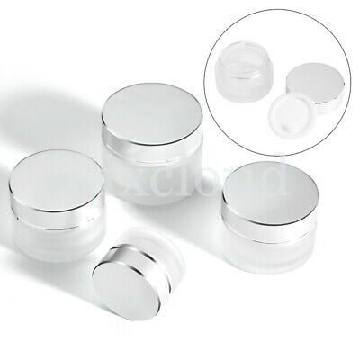 5g 10g 20g 30g 50g Empty Frosted Clear Jars Cosmetic Cream Gel Lip Balm Pots Lid