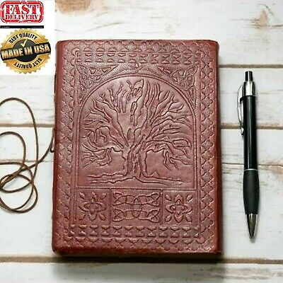Magical Vintage Large Oak Tree Life Leather Blank Book 200 Pages Diary Journal