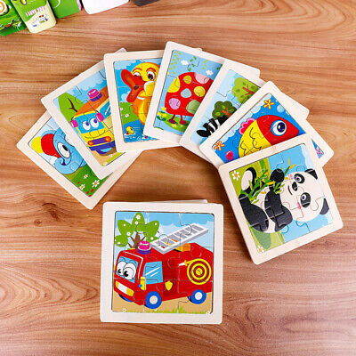 Cartoon Kids Educational Toys Wooden Puzzle Development Baby Toys Geometry Learn