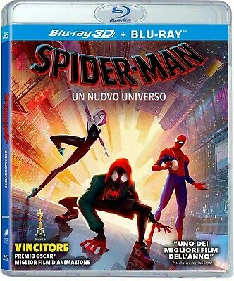SPIDER-MAN: INTO THE SPIDER-VERSE 3D / 2D Blu-Ray Marvel - Works In US Players