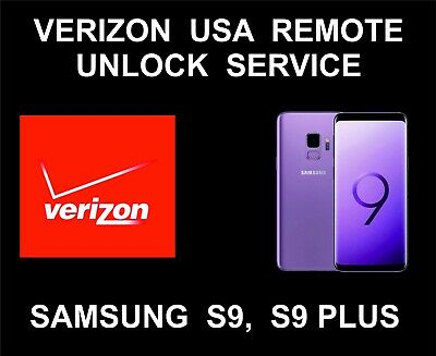 Verizon USA Samsung Remote Unlock Service For S9, S9 Plus All Versions