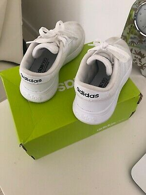 reputable site 79e45 011f5 Adidas Neo Kids Infants Trainers white  Boys Girls Size 11K