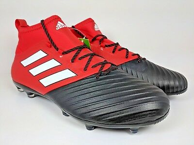 a6875f961 adidas Ace 17.2 Primemesh FG Soccer Cleat Red Black White (BB4324) Size 11.5