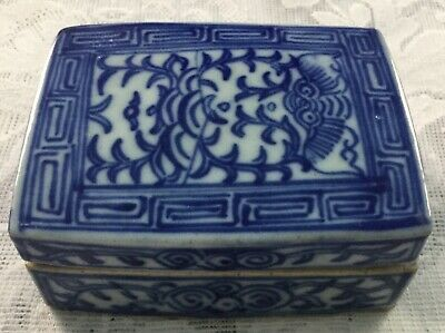 Ch'ing Dynasty Kang Hsi Period Blue-White Porcelain Box