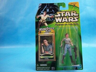 Star Wars Power of the Jedi LEIA ORGANA General Collection 2 Action Figure 2000