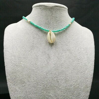 Trendy Bohemia Nature Stone Shell Necklace Pendant Bead Chain Conch Choker SexyG