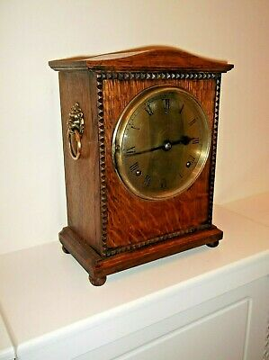 A EXCELLENT OAK BRACKET CLOCK by GILBERT & CO in GREAT WORKING CONDITION +