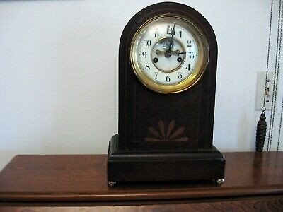 Circa 1900 8 Day Mantle Clock, Waterbury, Chesterton model