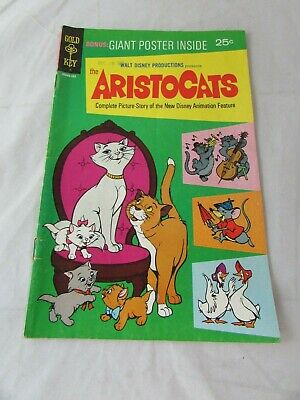 The Aristocats - Disney Gold Key - Vintage 1969 Comic #103