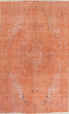 Persian Antique 9x12 Handmade Wool Floral Oriental Distressed Over Dyed Area Rug