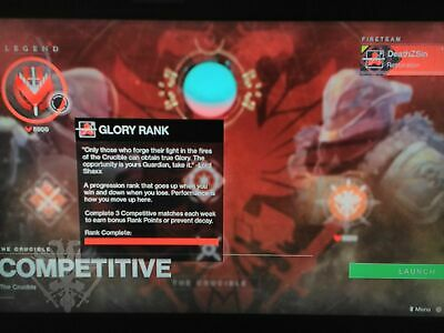 Destiny 2 Fabled Glory Rank (PS4)