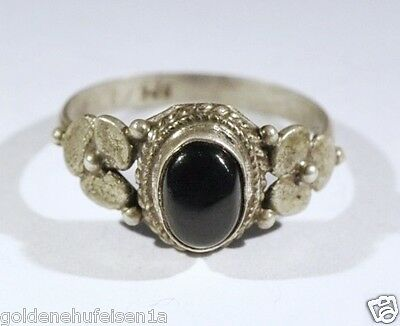 Onyx Ring 925 Silber Top