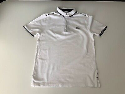 Hugo Boss Top Collered Polo Boys  Age 14 Slim Fit Short Sleeve Vgc White