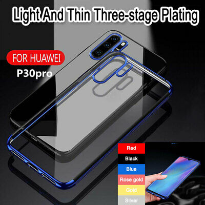 Shockproof Hybrid For Huawei P30 20 Pro Case Cover Electroplate Slim TPU Bumper