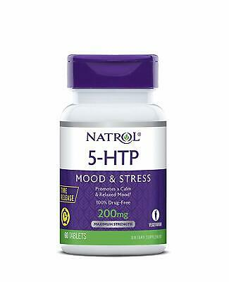 Natrol 5-htp Time Release Tablets, 200mg, 60 Count