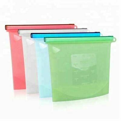 Reusable Food Silicone Preservation Airtight Bag Container Seal Storage Bags New