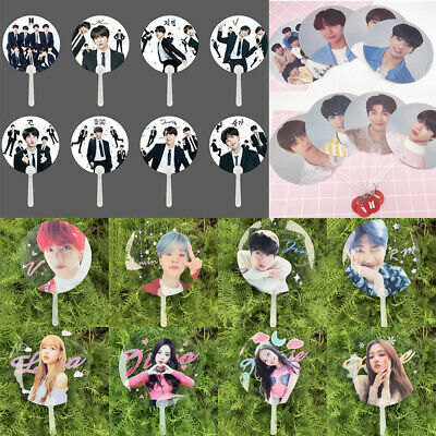 3 Styles Kpop BTS Mini Hand Fan Bangtan Boys BLACKPINK Idol Transperent PVC Fans
