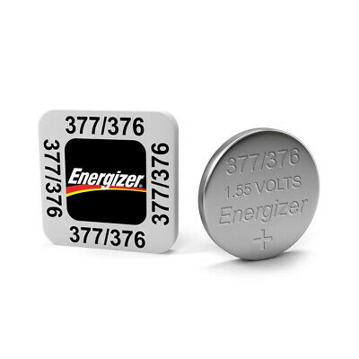 2 x Energizer 377 376 Silver Oxide SR626SW SR626 1.55V Watch Battery