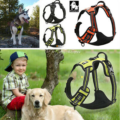 No-Pull Dog Harness Strong Adjustable Reflective Harness for Rottweiler Boxer