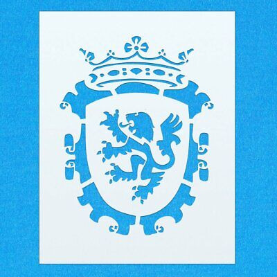 Coat of Arms Lion Vintage Shabby Chic Mylar Painting Wall Art Furniture Stencil
