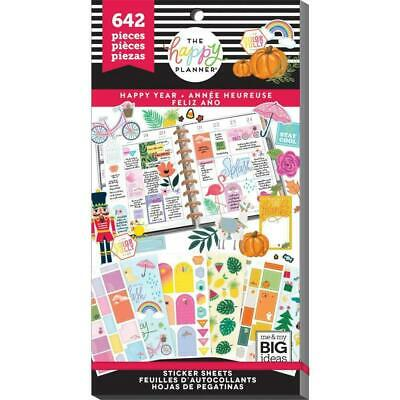 The Happy Planner Sticker Value Pack Happy Year 642 stickers in this pack!