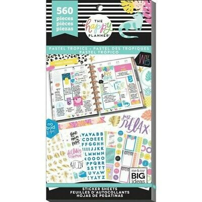 The Happy Planner Sticker Value Pack - Pastel Tropics 560 stickers in this pack!