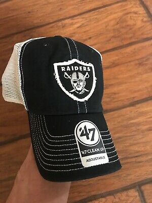 6e04a9cd NEW NWT OAKLAND Raiders NFL '47 Brand Canyon Clean Up Mesh Snapback Cap Hat  GD