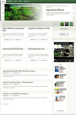 Fish & Aquariums Website For Sale! Search Engine Friendly Content Included
