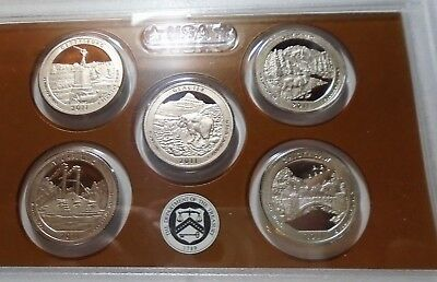 2011 S Proof  America The Beautiful National Park Quarters NO BOX or COA
