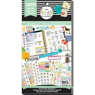 The Happy Planner Sticker Value Pack - Essential Planning 1009 Stickers in Pack