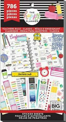 The Happy Planner Sticker Value Pack - Teachers Rule 786 stickers in this pack!