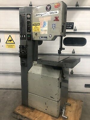 """Rockwell 28–3X5 Variable Speed Vertical Bandsaw 20"""" With Blade Welder"""