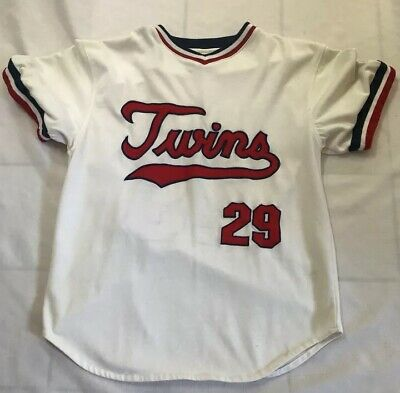 5e8d77aea94 Rod Carew Minnesota Twins Vintage Starter White Home Jersey Size Adult  Medium