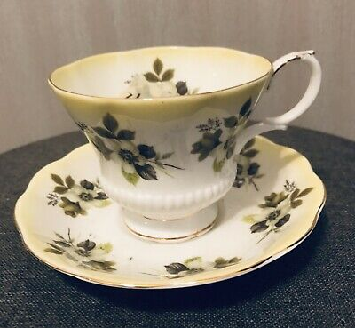 Vintage Royal Albert Teacup and Saucer, Bone China from England, Horizon Series