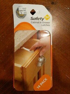 NEW Safety 1st Cabinet & Drawer Latches 14 Pack NIB Baby Child Protection