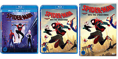 Spider-Man: Into The Spider-Verse - Blu-ray, 2D & 3D, DVD (2019) / Pick one!