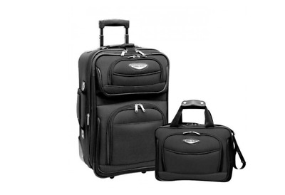 Traveler's Choice Travel Select Amsterdam 2 Piece Carry-On Luggage Set Gray NWT