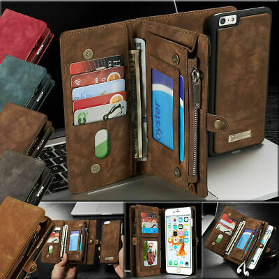 Leather Removable Wallet Magnetic Flip Card Case Cover For iPhone XS Max XR 8 7