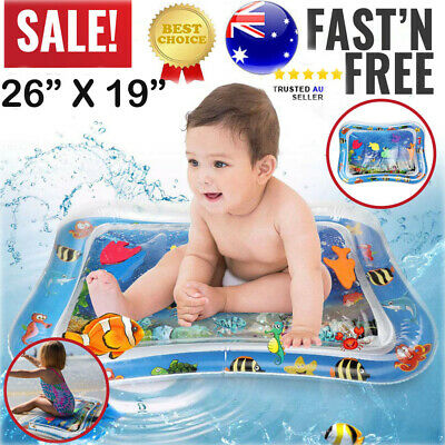 Baby Water Play Mat Inflatable For Infants Toddlers Fun Tummy Time Sea World AU
