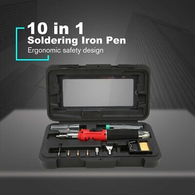 10 in 1 Automatic Ignition Portable Butane Gas Electric Soldering Iron Pen