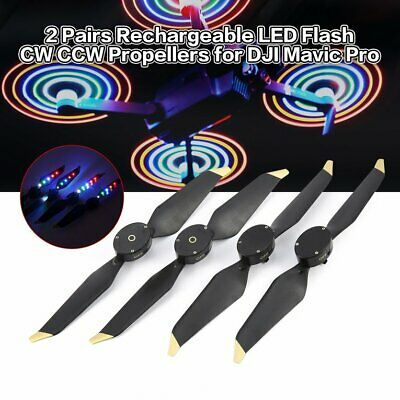 2 Pairs LED Flash Low-Noise Quick Release CW CCW Propellers for DJI Mavic  MZ