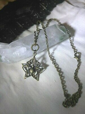 CAPTIVATING Spider Pentagram Pendant of WISHES Amulet WICCA Talisman PARA Meta