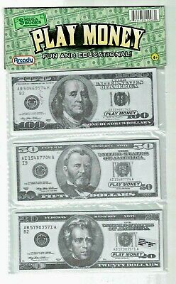 US Play Money Toy for Children: 30 pc,   $10 $5 $1